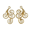 spiral design eardrops, 22K satin gold brass, gold brass, satin gold, eardrops, jewelry drops, 30x21mm, gold, gold jewelry, stamping, jewelry spiral eardrops, spiral eardrops, jewelry making, vintage supplies, jewelry supplies, jewelry findings, 02688
