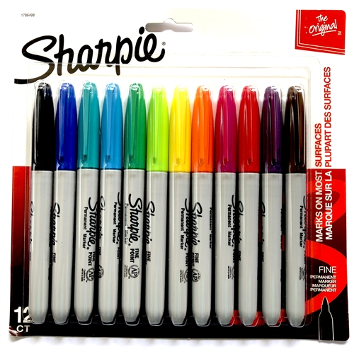 sharpie, sharpie markers, felt tipped pens, paint markers, sharpies, colored pens, colorizing brass, adding color to pewter, color pens, coloring pens, 12 marking pens, marking pen, blue marking pen, red felt tipped pen, black pen, B'sue Boutiques