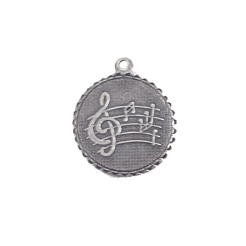 music charms, brass charms, silver plate, 01438, antique silver, silverware silver plate, jewelry charms, vintage jewelry supplies, brass jewelry parts, jewelry making supplies, US made, nickel free, B'sue Boutiques