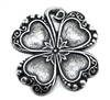 shamrock stamping, antique silver, shamrock, silverware silverplate, silver, silverware, silverplate, brass, pendant, charm, US made, nickel free, 24mm, stamping, jewelry making, jewelry supplies, vintage supplies, B'sue Boutiques, 01786