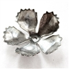 small fringed flower, silverware silver plate, flower, 02461, 30mm, rose, antique silver, brass stamping, petals, brass, drilled, stamping, 5 petal, flower petal, is made, nickel free, B'sue Boutiques, jewelry findings, vintage supplies, jewelry supplies,