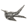 Brass Stampings, Brass Bird, Flying Birds, Silverware Silverplate, 1.50 x 3 Inches