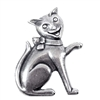 cat stamping, silverware silverplate, 02881, silver cat, kitten, kitty, kitty stamping, 51mm