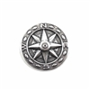 compass, silverware silverplate, 03408, medallion, silver, 25mm, jewelry supplies