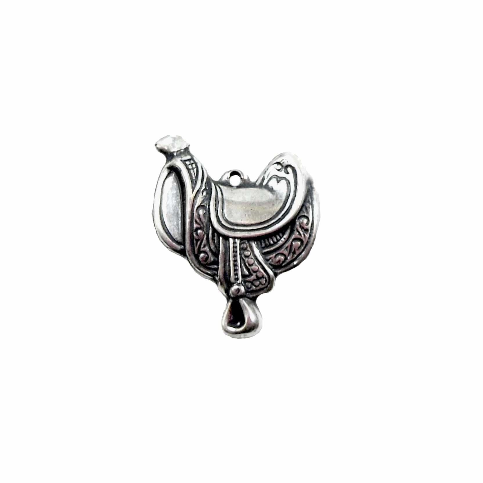 Saddle, Brass Saddle, Cowboy Jewelry, Jewelry Making, Silverware  Silverplate, 21 x 16mm