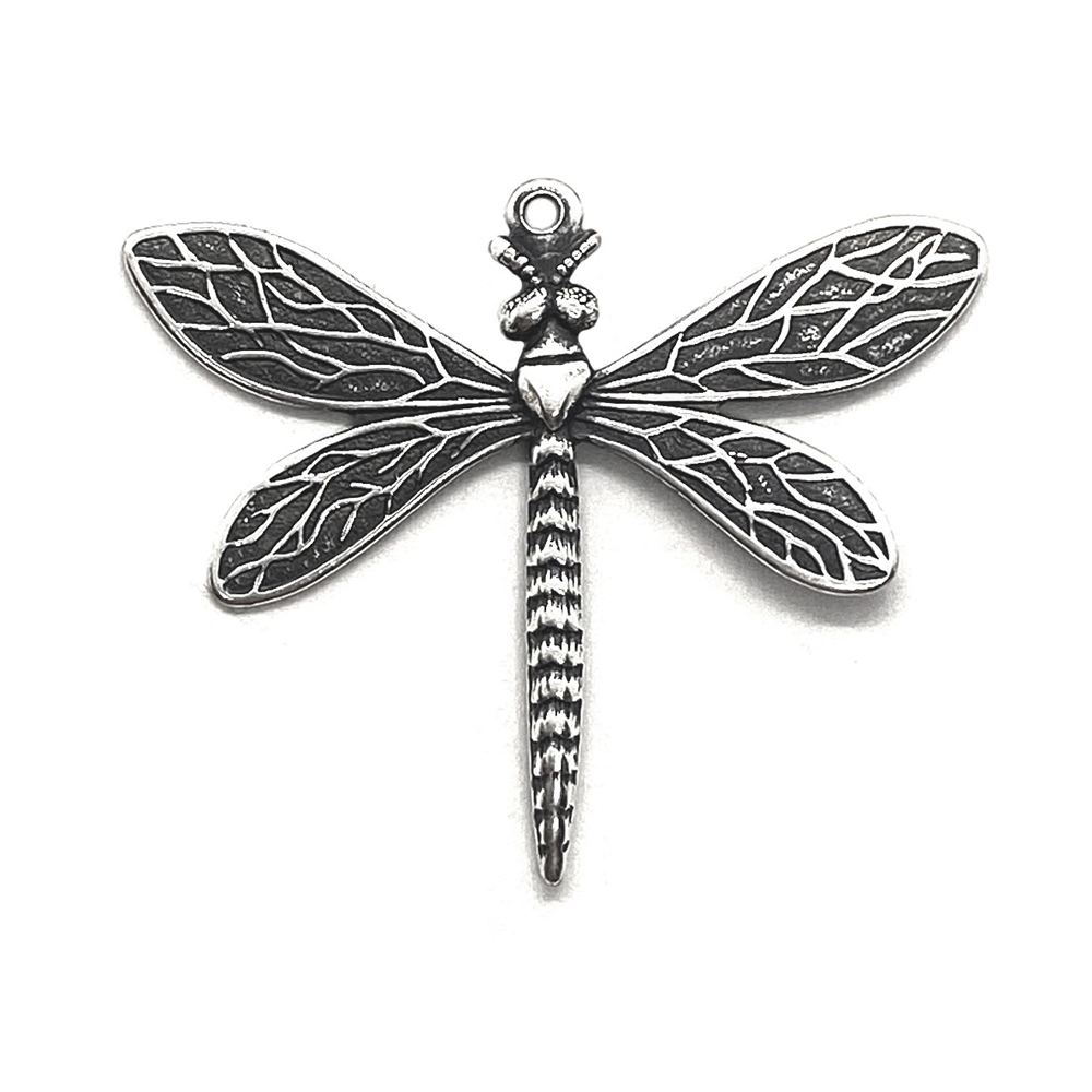 dragonfly, charm, silverware silverplate, 03539, silver dragonfly, bug, insect, animals, charms, silver, pendant, B'sue Boutiques, jewelry supplies