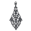 filigree ear drop, silverware silverplate, 03610, antique silver, pendant, filigree, silver filigree, plated brass, B'sue Boutiques