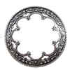 wreath, jewelry making, antique silver, 36mm, 03869, silverware silver plate, jewelry making supplies, brass jewelry parts, backless bezel, vintage jewelry supplies, US made, nickel free, Bsue Boutiques