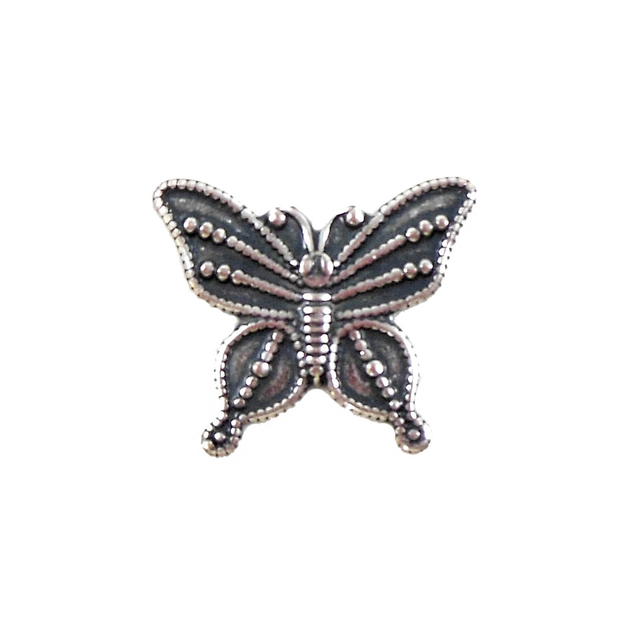 butterfly stampings, antique silver, 16 x 19mm