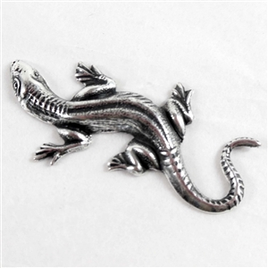 brass salamander, lizards, jewelry making