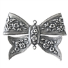 Silverware Bow, Folded Over, Floral Designer Bow, Two Connectors, Silverware Silverplate, US Made 33 x 47mm
