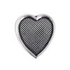 inlay heart mount, 06615, heart mount, inlay heart, silverware silverplate, ceralun, Bsue Boutiques, jewelry making, jewelry supplies, silver heart, resin, heart stamping, heart bezel, mount, bezel