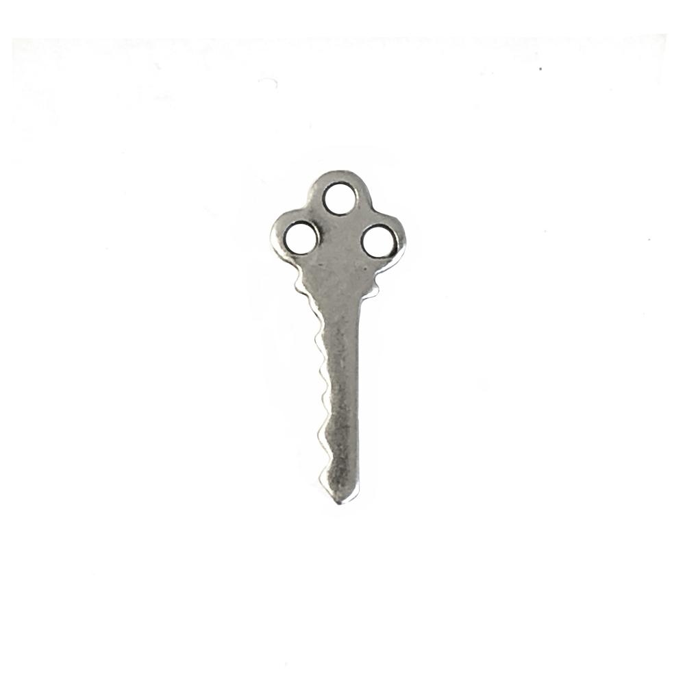 key, silverware silverplate, 06930, B'sue Boutiques, silver key, old fashioned key, 24mm, jewelry supplies