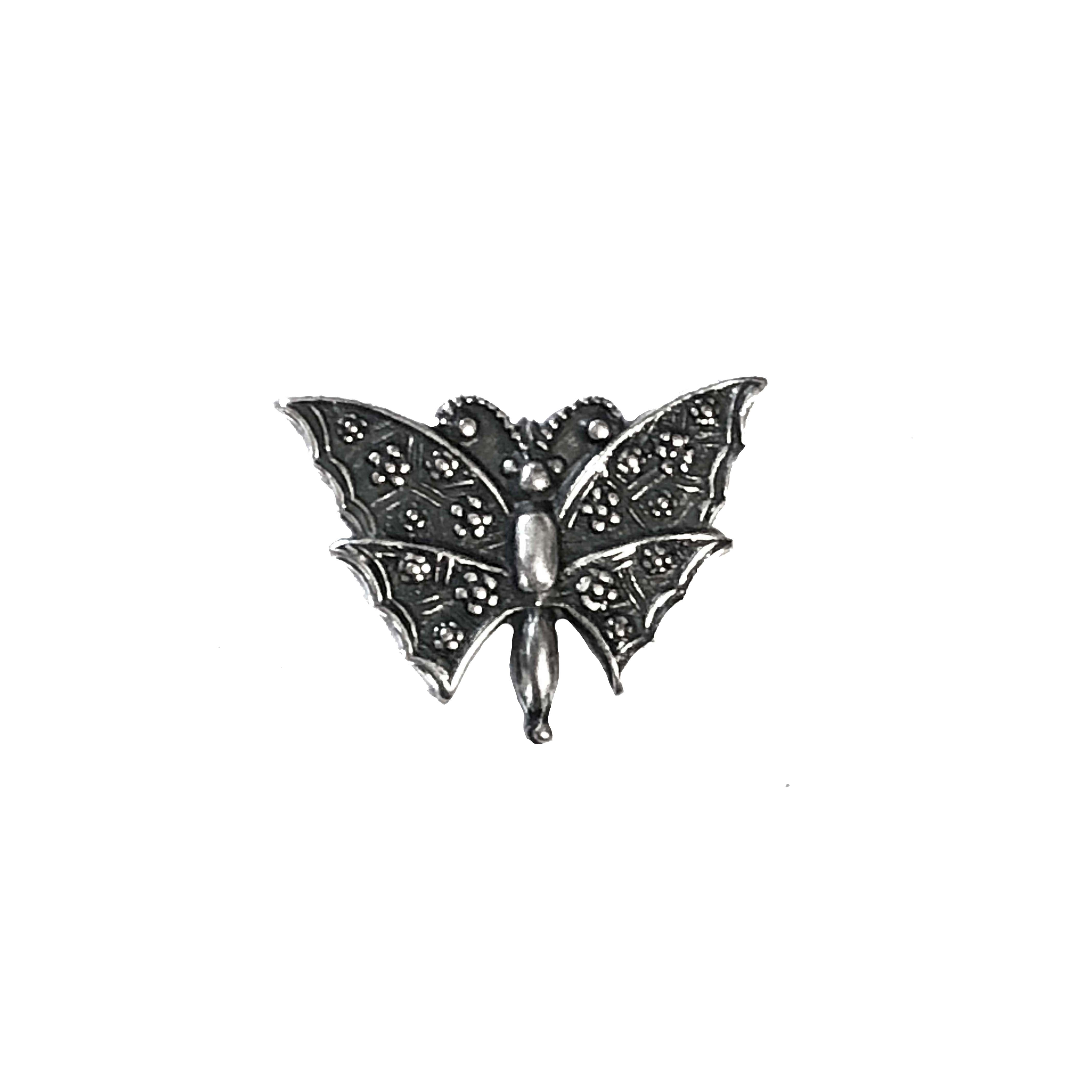 butterfly stampings, antique silver, 16 x 19mm, butterflies, butterfly, silverware silverplate, embellishment, Bsue Boutiques, jewelry supplies, animals, critters, insects, nature