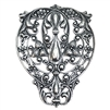 filigree, silverware silverplate, 08575, silver filigree, centerpiece, leafy filigree, leaf design, Bohemian filigree