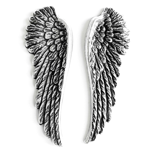 brass wings, bird wings, silver plate, 086, antique silver, silverware silver plate, bird wings, Steampunk Art, vintage jewelry supplies, jewelry making supplies, brass jewelry parts, US made, nickel free, Bsue Boutiques