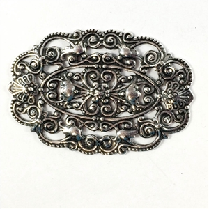 brass filigree, Victorian filigree, silver, 08980, B'sue Boutiques, nickel free jewelry supplies, vintage jewelry supplies, brass jewelry parts, antique silver, silverware silverplate, filigree stampings