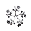 pinwheel flower sprig, 09199, silverware silverplate, silver, flowers, leaves, leaf, stone sets, Bsue Boutiques, jewelry making, jewelry supplies, pinwheel, sprig