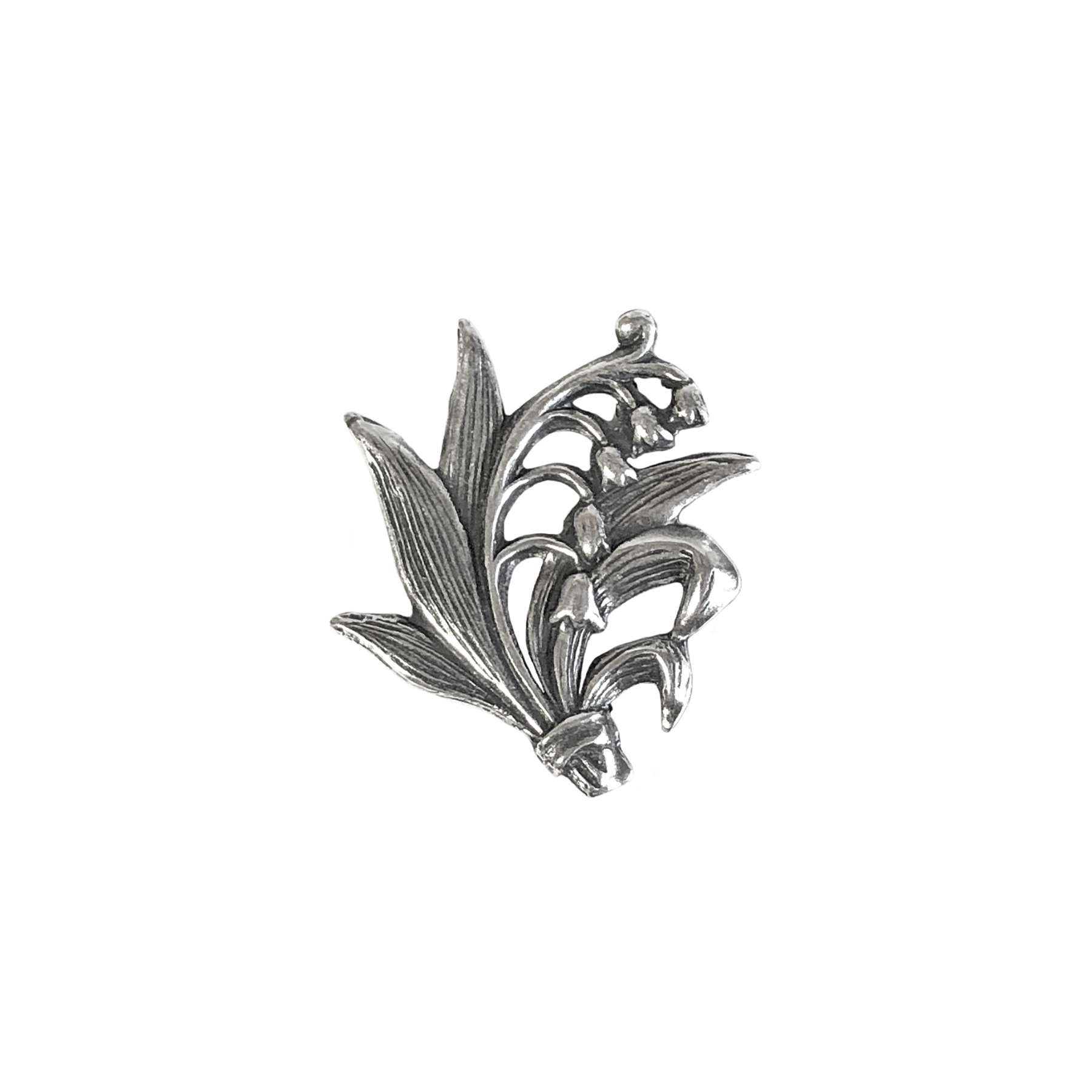 flower bouquet stamping, silverware silverplate. flowers, bouquet, antique silver, US made, nickel free, flower sprig, jewelry making, jewelry supplies, vintage supplies, silverware, silverplate, brass stamping, silver bouquet, B'sue Boutiques, 23x20mm,