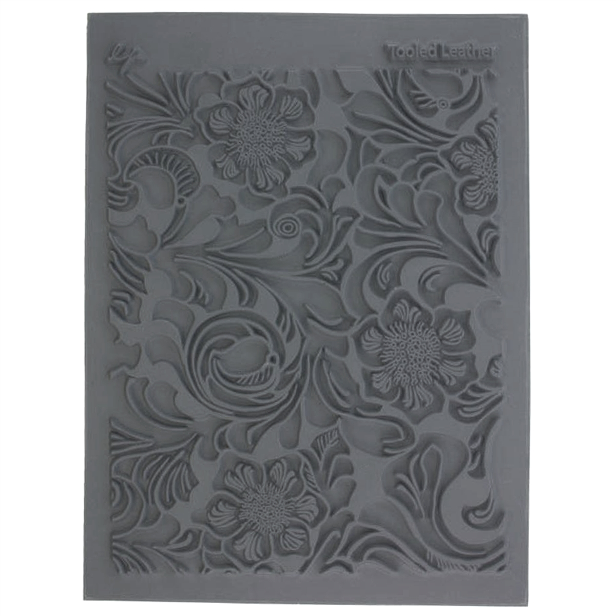 Tooled Leather Stamp Pads Jewelry Making 02739 Floral Pattern Imprinting Stamps Textured Embossing Supplies