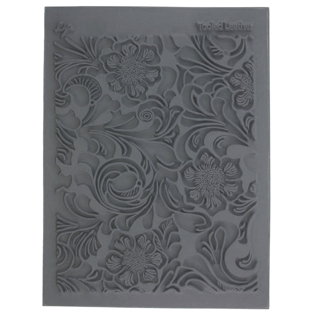 tooled leather, stamp pads, jewelry making, 02739, floral pattern pads, imprinting stamps, textured stamps, embossing supplies, jewelry supplies