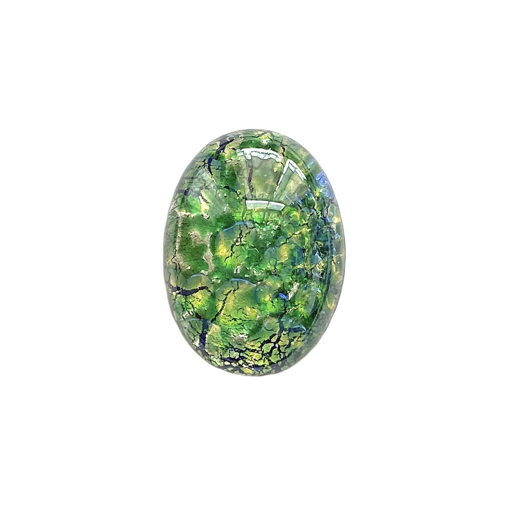 sea green opal, Czech, Preciosa, opal, lampwork stone, stone, sea green opal stone, sea green, oval stone, 25x18mm, simulated imitation, hand-worked glass, glass, glass stone, green-blue, cabochon, B'sue Boutiques, jewelry stone, jewelry making, 01405