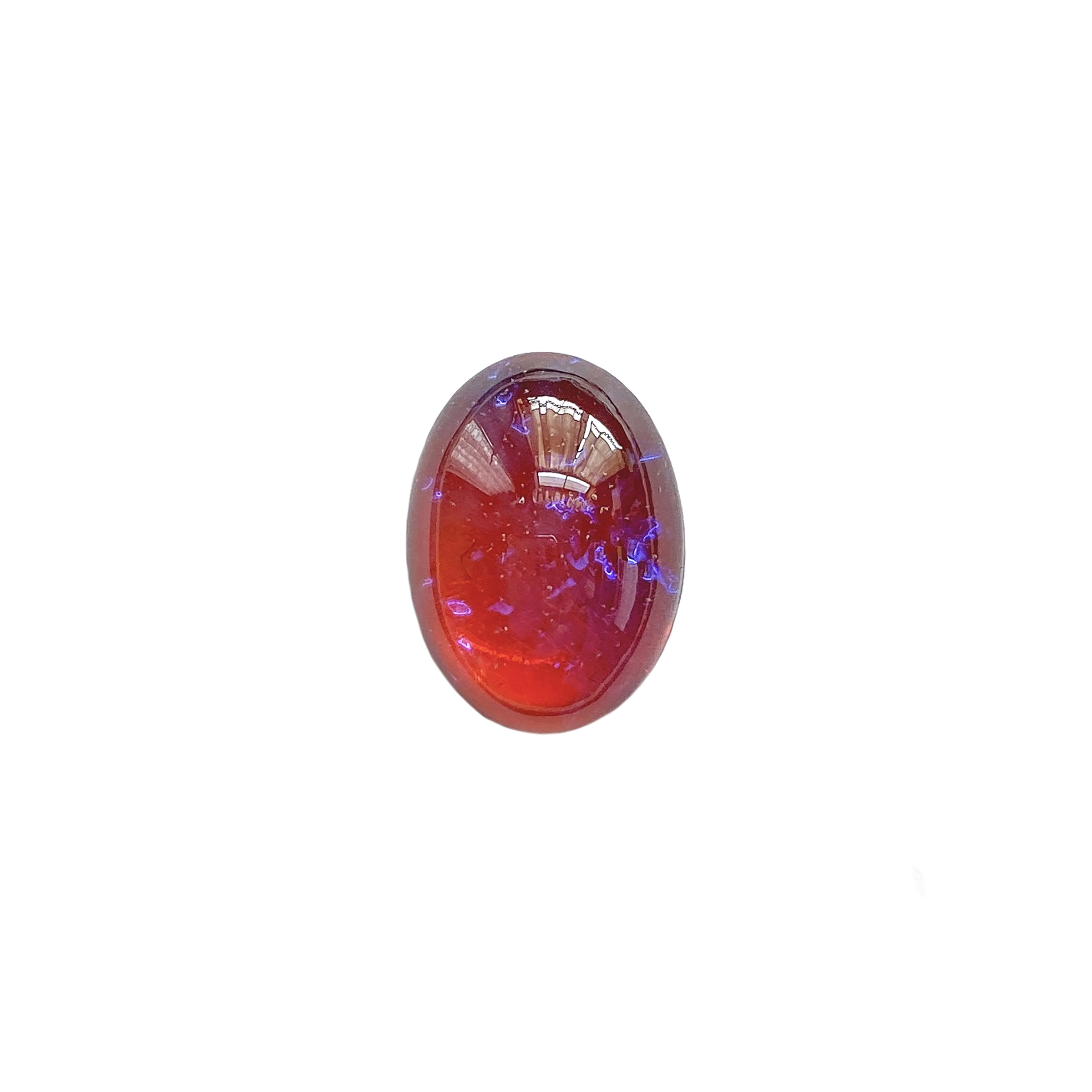mexican opal, Czech, Preciosa, opal, lampwork stone, stone, mexican opal stone, coral purple, oval stone, 18x13mm, simulated imitation, hand-worked glass, glass, glass stone, coral-purple, cabochon, B'sue Boutiques, jewelry stone, jewelry making, 01407