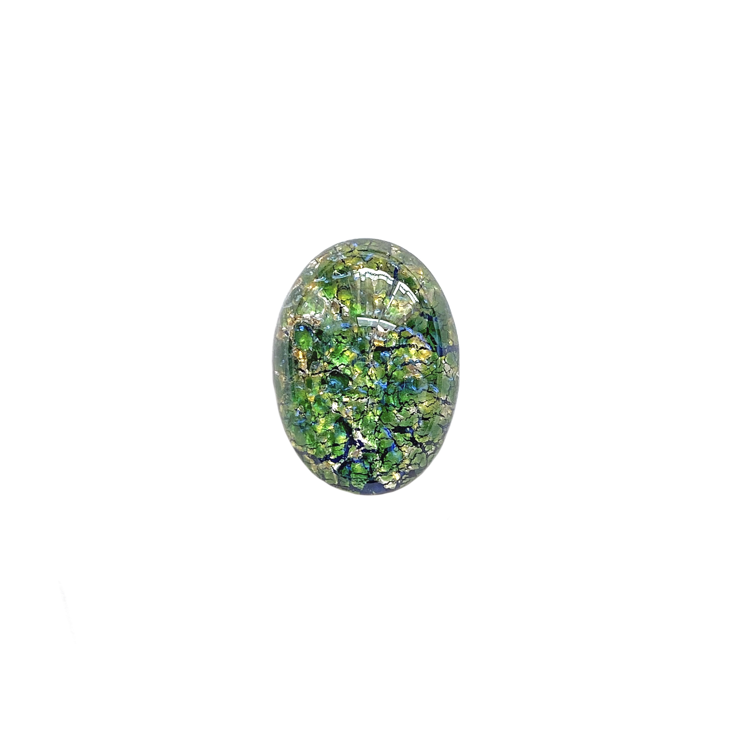 sea green opal, Czech, Preciosa, opal, lampwork stone, stone, sea green opal stone, sea green, oval stone, 18x13mm, simulated imitation, hand-worked glass, glass, glass stone, green-blue, cabochon, B'sue Boutiques, jewelry stone, jewelry making, 01408