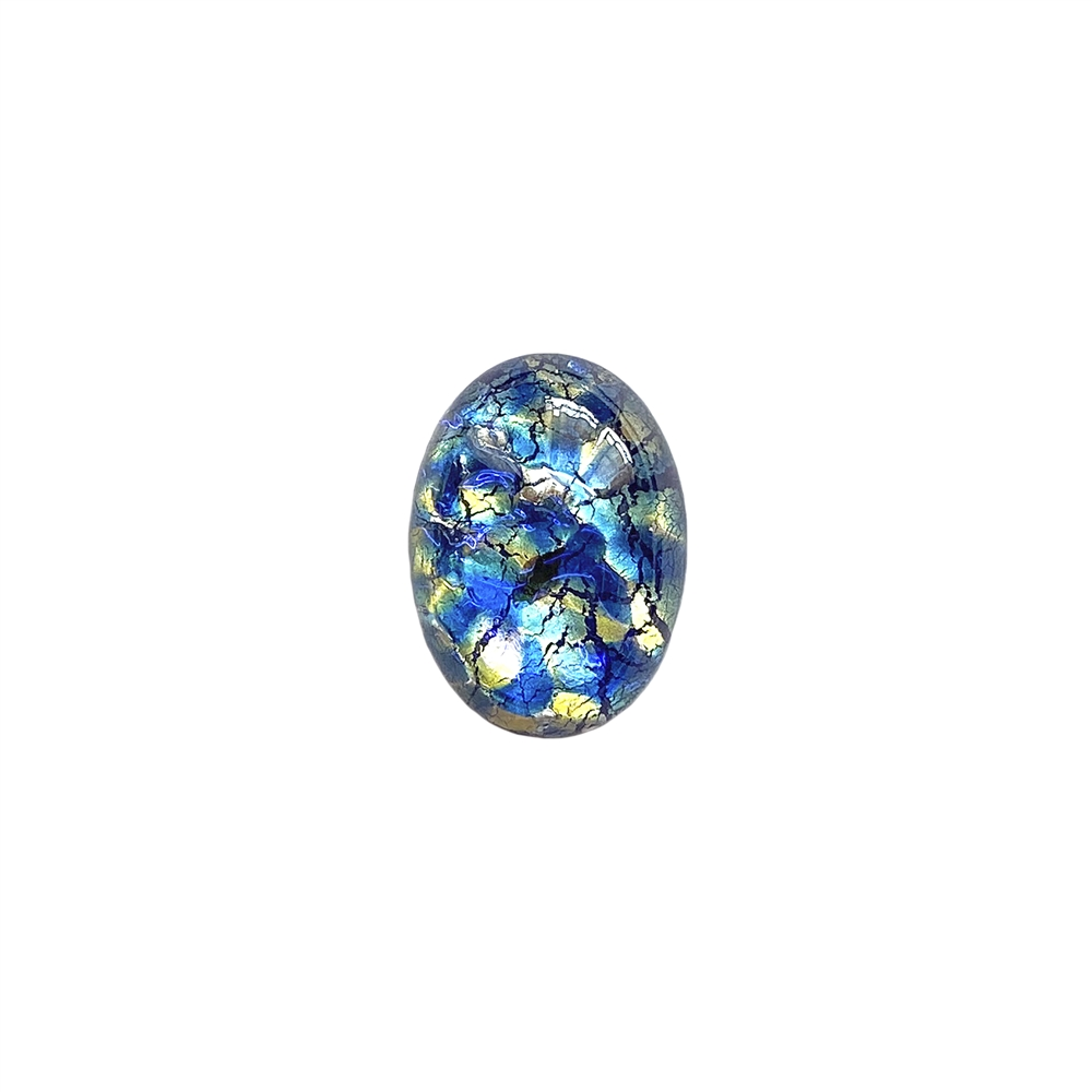 sea blue opal, Czech, Preciosa, opal, lampwork stone, stone, sea blue opal stone, sea blue, oval stone, 18x13mm, simulated imitation, hand-worked glass, glass, glass stone, blue-green, cabochon, B'sue Boutiques, jewelry stone, jewelry making, 01411