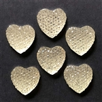 heart stones, pave rhinestones, crystal, 01859, jewelry making supplies, vintage jewelry supplies, silver foiled, plastic resin stones, imitation crystal hearts, flat back stones, jewelry making,