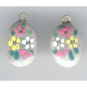 Hand Painted Hippie Pebbles with Bails