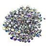 Czech crystal AB chatons, 03298, rhinestones, AB crystal chatons, rhinestone, chaton, chatons, Bsue Boutiques, pointed back, point back rhinestones, jewelry supplies 2.5 - 4mm, Czech, Preciosa, silver foil, aurora borealis