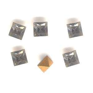 Sim Imit Black Diamondl Square Cut Stone