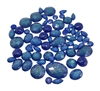 mixed vintage glitter stones, marine blue, blue, cabs, stones, flat back, cabochons, deep blue, glitter stones, teardrops, oval, teardrop flat backs, teardrops, beading supplies, vintage supplies, jewelry making, B'sue Boutiques, 04946m