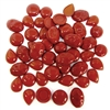 assorted stones, stones, flat back, oval, round, teardrop, cabochon, ruby red, red, flat back stone, red ruby stones, ruby red stones, B'sue Boutiques, jewelry findings, vintage supplies, jewelry supplies, jewelry making, Italy, stone jewelry, 05031