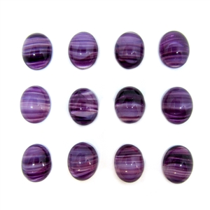Czech glass striated stone, flat back, oval, 8x10mm, cabochon, 05161, purple, flat back stone, glass, B'sue Boutiques, jewelry findings, vintage supplies, jewelry supplies, jewelry making, us made, stone jewelry,