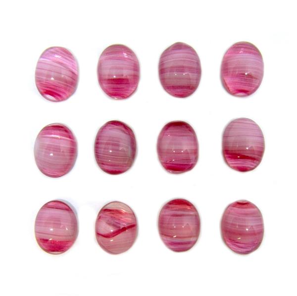 Vintage 20x18mm pink Scarab Oval Cabochon Czech Republic 1pc