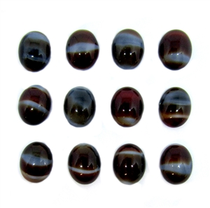 Czech glass striated stone, flat back, oval, 10x8mm, cabochon, 05171, chocolate brown, flat back stone, glass, B'sue Boutiques, jewelry findings, vintage supplies, jewelry supplies, jewelry making, us made, stone jewelry,