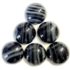 vintage epoxy resin cabs,  striated stones, 05185, striated stones, flat back stones, 20mm stones,  vintage jewelry supplies, Bsue Boutiques, resin cabochons, jet and gray cabochons, jewelry making supplies, vintage jewelry supplies