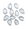 crystal briolettes, acrylic, tear drops, imitation crystal, 05271, B'sue Boutiques, vintage jewelry supplies, vintage jewelry findings,  pendant drops,  ear rings, pendants,
