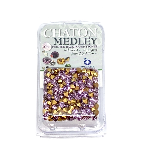 Light amethyst chatons, 06304, rhinestones, amethyst, purple rhinestones, light amethyst colored rhinestones, rhinestone, chaton, assorted sizes, chatons, Bsue Boutiques, pointed back, point back rhinestones, jewelry supplies, purple, lavender