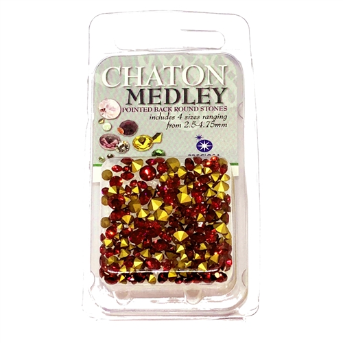 Ruby red chatons, 06305, rhinestones, ruby, red rhinestones, ruby rhinestones, rhinestone, chaton, assorted sizes, chatons, Bsue Boutiques, pointed back, point back rhinestones, jewelry supplies