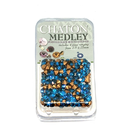 Capri Blue chatons, 06309, rhinestones, capri blue, blue rhinestones, turquoise rhinestones, rhinestone, chaton, assorted sizes, chatons, Bsue Boutiques, pointed back, point back rhinestones, jewelry supplies, ocean blue