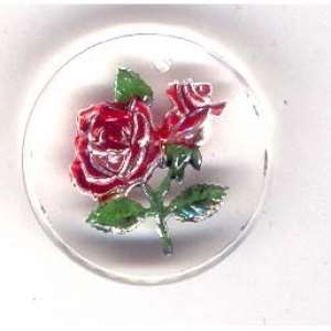 Vintage, West German,  Rose Focal Pendant, 25mm
