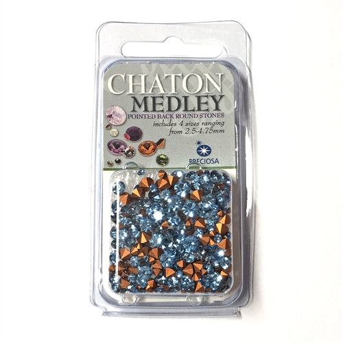 Lt Sapphire chatons, 06482, rhinestones, light sapphire, rhinestones, light blue rhinestones, blue rhinestone, chaton, assorted sizes, chatons, Bsue Boutiques, pointed back, point back rhinestones, jewelry supplies