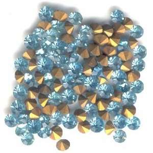 4mm Sim Imit Aquamarine Chatons