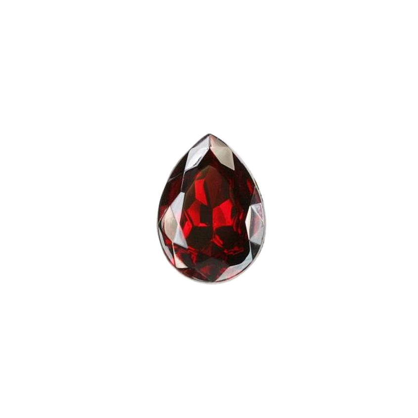 Czech glass pear stone, ruby red, teardrop stone, glass stones, pear stones, vintage supplies, jewelry making, jewelry supplies, focal stones, B'sue Boutiques, gold foil back, point back stones, ruby stone, ruby pear stone, glass ruby, Czech, 07916