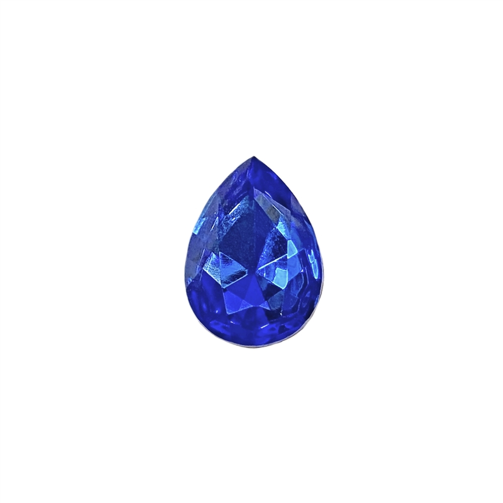 Czech glass pear stone, sapphire, teardrop stone, glass stones, pear stones, vintage supplies, jewelry making, jewelry supplies, stones, B'sue Boutiques, gold foil back, point back stones, sapphire stone, sapphire pear stone, Czech, 07918
