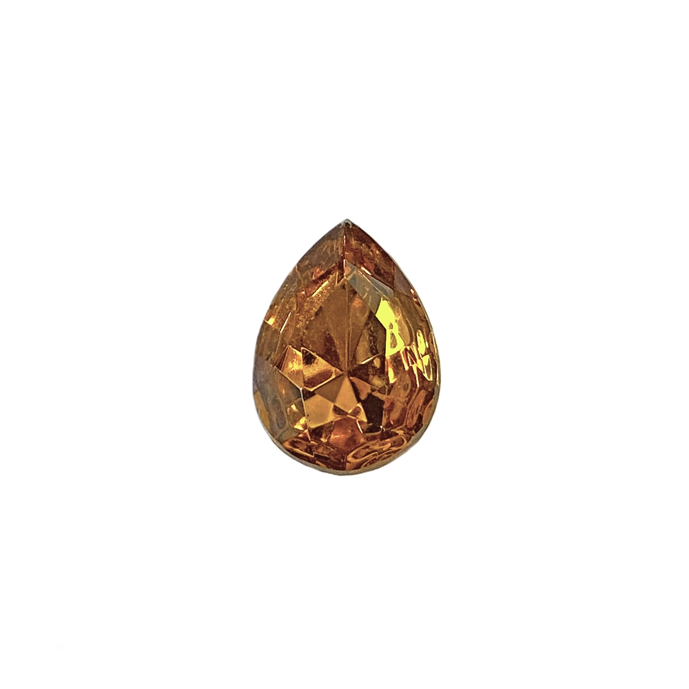 Czech glass pear stone, topaz, teardrop stone, glass stone, pear stone, vintage supplies, jewelry making, jewelry supplies, focal stone, B'sue, gold foil back, point back stone, topaz stone, topaz pear stone, glass topaz, Czech, fancy stone, 07920
