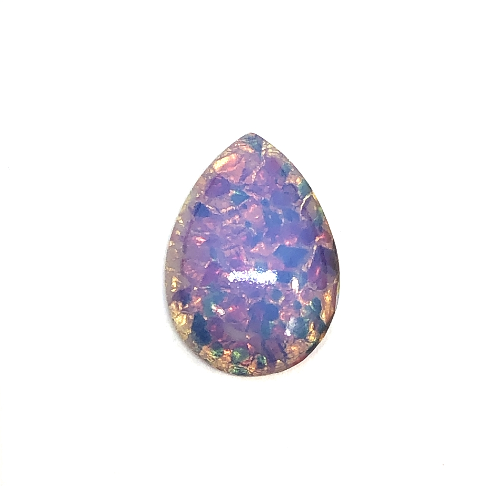 Czech fire opal, stone, opal, glass, glass stone, fire opal, Czech glass, simulated imitation stone, hand worked glass, fire, european glass, b'sue boutiques, jewelry findings, vintage supplies, jewelry supplies, pear shape, teardrop, 25 x 18mm, 0825